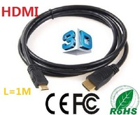 CE,ROHS,FCC Certification, 1M High speed Mini HDMI cable ,With Ethernet and 3D Support, Full HD1080P,100pcs/lots