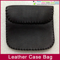 Carry Case Bag for headphone earphone Leather bag pouch case Pouch free shipping 100pcs/lot Hot high quality!