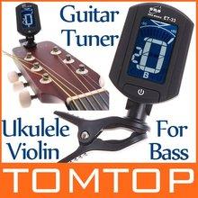 LCD Digital Bass Violin Ukulele Guitar Tuner I34(China (Mainland))