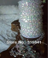 Fee shipping /(7rolls/lots) 210 meter acrylic crystal  garland for  wedding tree/centerpiece/chandelier