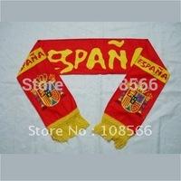 Wholesale Spain scarf/spain fans scarves/Spain souvenirs