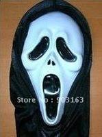 Wholesale 10pcs Halloween mask emulsion masks masquerade super white mask - terror + free shipping