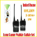 Interphone Long Range Walkie Talkie Set UHF 220V 5W 3-5KM+ 199 Stored Channels 400 - 470MHZ Free Shipping