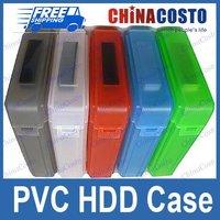 "Fashion 3.5"" IDE SATA HDD Hard Drive Disk Case Storage Box,Free shipping,5pcs/set,10sets/lot"