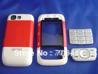 50pcs/lot,Full cell phone housing replacement cover repair case+keypad+faceplates+parts for nokia 5300 mobile phone,multi-color