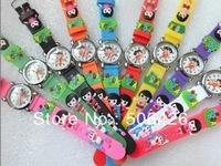 Free Shipping Promotion Wholesales Cute Dora Cartoon Children 3D Watch 10pcs/lot &Good Gift