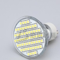 LED Lamp,Free shipping Hot Selling 5pcs/lot 4W GU10 SMD 60 LEDs 220-240V Warm White LED light Bulb wholesale+energy saving