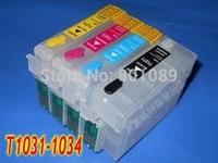 Wholesale T1031 T1032 T1033 T1034 Refillable ink cartridge for Epson Stylus Office T40/TX550W/TX600FW