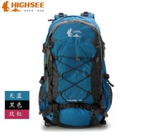 40L high-quality nylon outdoor hiking camping travel bag backpack mountaineering bag Free shipping charge