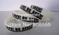 Custom Design Silicon Bracelet, Glow in Dark Silicon Wristband, Promotion Gift, Personalized Design, 202x12x2mm, 100pcs/Lot
