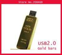 full capacity  gold bar usb 1/ 2/4/8/16/32GB usb flash drive,