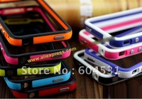 Phone cases for  iphone 4   bumper Case for  iPhone 4   Mix colour   DHL Free Shipping