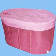 Plastic portable bathtub for adults