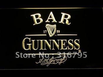 427-y BAR Guinness Beer Neon Light Sign