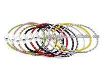 Bracelets Bangles Wholesale Lots 50PcsXSilver Plate Mixed Leather Bracelets Fit European Bracelets Lbrmix2(1)