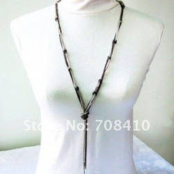 Free shipping! Fashion Multi chains lock chain Ladies' Necklace Y-Necklace (N38)(China (Mainland))