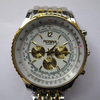 Luxury Stainless Steel Band White/Gold/Black Round Dial Quartz Analog Watches,Analog Quartz Watches,Men's Watches