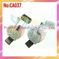 Wholesale 1GB 2GB 4GB 8GB 16GB 32GB 64GB good quality heart jewelry usb flash drive with 1 year warranty+Free shipping #CA037