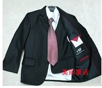Free Shipping new 2013 discount 3-12 Year Boy Tuxedo 6 Pieces Set :Tuxedos+Vest+Shirt+Tie+Bow Tie+Pant