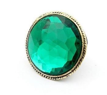 Korea small jewelry wholesale 2011 new fashion tide female post Vintage Emerald Ring