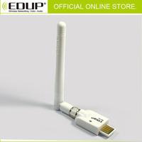 3pcs/Lot NEW Free Shipping EDUP Mini High Power 802.11N 150M Wireless USB Adapter With D-link 2dbi SMA Antenna