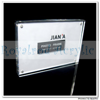 3.5'' x 5'' clear magnet photo frame 5pcs/lot free shipping