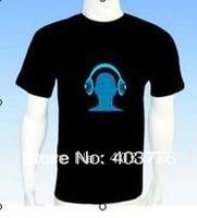 flashint led t shirt/t-shirts/tshirt/led clothing/neon t shirt/led light up clothes