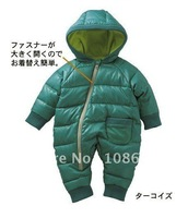 top sale wholesale baby winter romper,children coat,kids romper,baby clothing, fast free ship Xmas gift