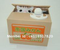 Free Shipping Itazura Stealing Money Cat Penny Money Bank Coin Saving Box Perfect Gift Kids