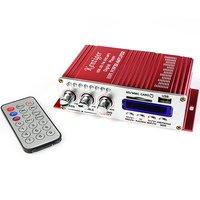 F278A 5pcs/lot HY502 Car Amplifier MP3 FM 20W+20W Digital display power amplifier