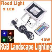 Outdoor 10W RGB Flash Landscape Lighting LED Flood Light Floodlight, Free Shipping