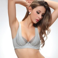 (30pcs/Lot)Hot sale sexy large charming bra seductive thin bra for women/ladies design plus size bra(Gray,Black)Free Shipping