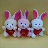 free shipping ,rabbit key chain , mobile phone chain,size:7-8cm ,stuffed rag doll,plush toys,100pcs/lot  wholesale sku:h4