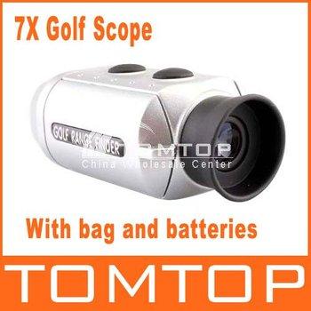 Digital Pocket 7X Golf Rangefinder Range Finder Golf Scope With Bag, freeshipping,dropshipping Wholesale