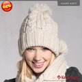 Holiday Sale Kenmont New Arrival Brand Winter Hat, Hand Knitted Beanie Hat, Wool Beanie KM 1225-36 Beige hut