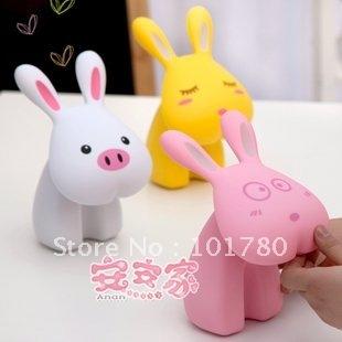Rabbit light,Led table lamp, rabbit mini table lamp ,cartoon lamp,many color for choose