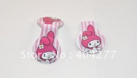 Free shipping,My Melody strong magnetic round clip,sparkling magnetic clip,size:4.5*3.2cm,2pcs/pack