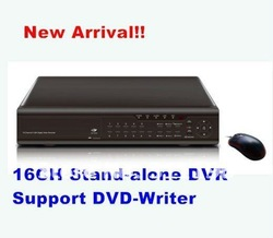 CCTV DVR Recorder 16Channel Support DVD-Writer ,D1 Resolution support H.264 Network Stand-alone DVR(China (Mainland))