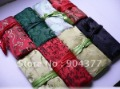 Jewelry Gift Bags 30pcs/lot Mix color style 9 * 6.3 inch Silk Printed Colorful Zipper Rope Jewellery Roll