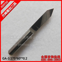 3.175*60Degree*0.2  End Mill Engraving Tools For 3D/Sharp Bits For Engraving Bits