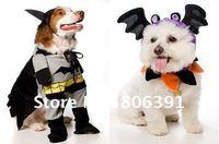 HOT sale! Cool Batman Pet clothes/Lovely Superman dog clothing/spiderman pet apparel/cat garment, Dog products, XS,S,M,L