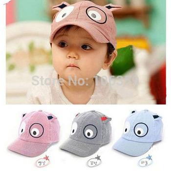 Kids Spring Baseball Cap Dog Shaped Baby Hat Children's Cotton Sun Hat Boy Girl Cotton Casquette Beret Cap 10pcs XD01