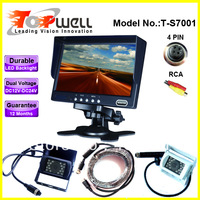 Free Shipping 7'' Reversing Camera Kit with 420 TVL IR Waterproof CCD Camera and 10 Meter 4 PIN Cable
