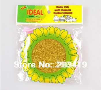 sunflower kitchen cleaning ball dinnerware cleaner soft for all cleaning non-rust scourer wholesale