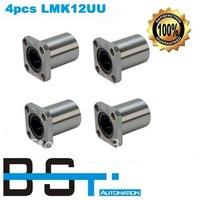 Flange Linear Motion Bearing LMK12UU  for 12mm Linear round shaft rail