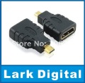 Micro HDMI to HDMI adapter,male to female,use for HTC EVO,XT800,F85EXR,SH-07B,wholesale&free shipping
