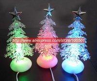 2pcs/lot USB Christmas tree, LED colorful Christmas tree, crystal Christmas tree