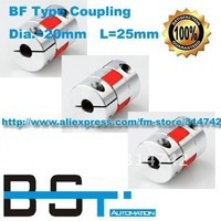 Free shipping 4pcs bore size= 6.35mm to 6.35mm D20*L25 Coupler for servo stepper motor
