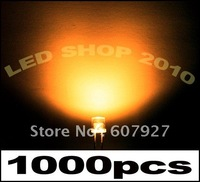 Wholeasle _Hot sale 3mm Flat Top Orange 2000pcs/lot LED Wide Angle Light, 3mm flat top led ,flat top didodes, freeshipping