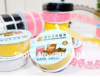 100cm lace bud silk stationery stickers Office Adhesive Tape Deco Tape Adhesive Roll Tape Large whcn+